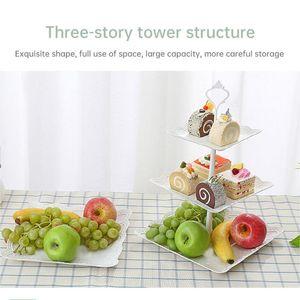 Шириженные торт Стенд 3 уровня Кекс подставка для кекса для кекс Plate Crown стойка 2/3 Слои для установки Металлические кондитерские
