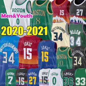 15 JOKIC Jersey 0 Tatum Murray 27 Jamal Nikola Jayson Kemba 8 Walker Marcus 36 Akıllı Kahverengi Gordon Jaylen Hayward Erkek Gençlik Basketbolu