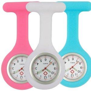 Luminous Enfermeira de Silicone Relógios Mulheres Decoração Fob FOB Relógios de Bolso Atacado Medicina Hospital Quartz Hang Watches T200502