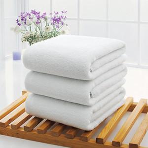 70*140cm Hotel Bath Towels Guest House 100% Cotton White Towel Soft Bathroom Supplies Unisex Usage Natural Safe Bath Towel DHF4019