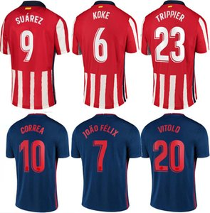 I più recenti bambini e kit adulti Atletico de Madrid Uomo Away Joao Félix Costa Suarez Koke Camiseta de Fútbol Camicie da calcio 20 21 maglie da calcio