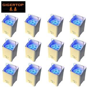 TIPTOP rechargeable Projecteur de scène 6 * 6W 6in1 Batterie UV RGBAW Operated lumière LED Par coulée logement alunminum x 12 unités freeshipping
