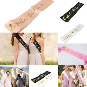 Bridal Sweet Sets Wedding Favors Bride Decoration To Be Satin Sash For Bachelorette Hen Party Fit Women Dress 156*9.5cm epacket 1 NIOFV