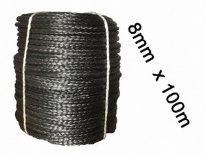 Free Shipping 8MM 100M 12 Strand Extreme UHMWPE Synthetic Rope Winch Line Factory Direct Sale Na8d#
