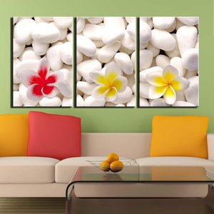 3 Panels Stone Flower Still Life Wall Art Pictures Canvas Painting HD Prints And Posters For Living Room Home Decoration Giclee Artwork