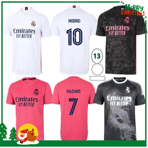 20 21 Real Madrid Football Jersey Benzema Vini Jr Modric Asensio Sergio Ramos Hazard 2020 2021 Homens adultos + Kit Kids Sports Soccer Shirt