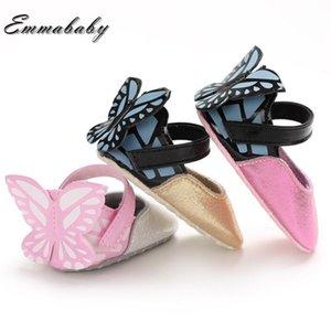 Emmababy Spring Automne Princesse Fashion Toddler Bébé Bébé Chaussures Butterfly Soft Sold Sole Toddler Berceau Chaussures Prewalker Crib