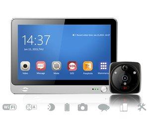 7 pouces WIFI GSM vidéo Sonnette Interphone judas Viewer SOS Fonction