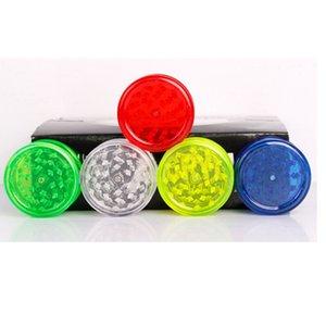 60мм Grinder 3 слоя Пластикового Grinder 5 цветов табак измельчители зеленый красной синей ясной травы Измельчители DHL доставка бесплатно
