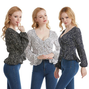 European and American Women's Fashion Slim Top CS Blouse Women Women Blouses Plus Size Undefined Womens Sexy Tops