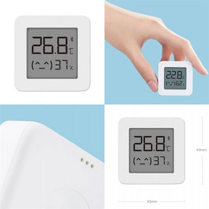 LCD Temperature Meters ABS Bluetooth Intelligence Household Baby Room Number Display Humidity Meter White Bedroom Hygrometer Compact 15xf M2