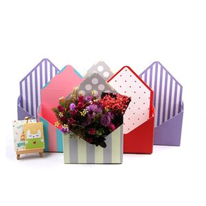 6PCS Mini envelope type box creative Korean flower bouquet floral hand-folded gift box Valentine's Day flower