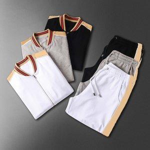 Uomo Abbigliamento sportivo Felpa con cappuccio e felpe Black Bianco Autunno Autunno Inverno Jogger Sporting Vestito Sportivo Mens Sweats Suits TrackSuits Set Plus Size M-3XL W08