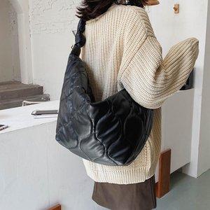 Soft Warm Nova Moda Espaço para baixo Big Ombro Bolsas Queda e Inverno Tendência de Luxo Lightweight Algodão Crossbody Travel Bags