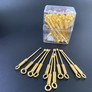 슬립 귀 추출기 세탁 가능한 금속 나사 단순 귀 선택 링 버클 남자 여성 유니버설 패션 가정 0 33QK P2