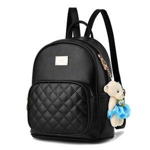 ACELURE sólidas Bolsas Moda Mujer color Mochila niñas mochilas escolares Negro para los adolescentes estudiantes de sexo femenino señoras forman Bolsas