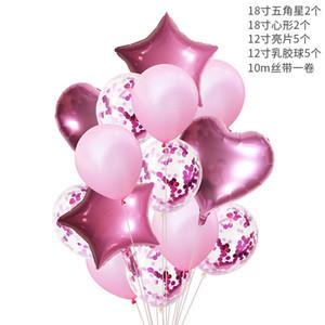 10PSC Transparent Sequin balloon suit shiny Birthday wedding decoration hydrogen balloon party decorating balloon