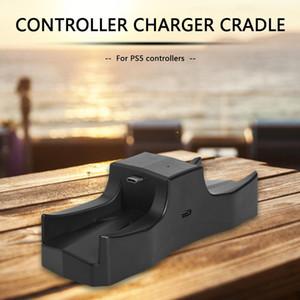 المراقب شاحن مزدوج شاحن USB شحن سريع حماية حوض ضوء LED المؤشر الإفراط في درجة الحرارة لسوني PS5