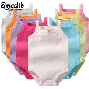 SMGSLIB Baby комбинезон без рукавов цветочные новорожденные девочка одежда летом хлопок младенческий ползунок новорожденного onsie костюм 0-36м 201026