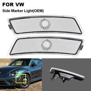 2PCS For VW Beetle 2012 2013 2014 2020 2020 Clear Lens Side Marker Light Bumper Lamp