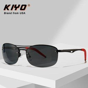 Kiyo Marka 2020 Yeni Erkekler Oval Polarize Gündüz ve Gece Güneş Gözlüğü Metal Moda Güneş Gözlükleri UV400 Sürüş Gözlük 29251