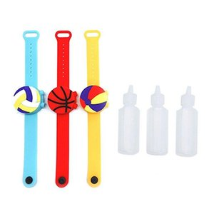 Hand Sanitizer Pulseira Baseball Sanitizer Bracelet Wrist Band Silicone Sanitizer Dispenser Portátil Silicone desenhos animados Pulseira IIA741