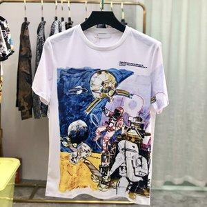 Лето Весна Астронавт аэронавигационной Вселенной Мода Космическая Любовь тенниска Мужчины Женщины Street Casual Cotton Tshirt Tee