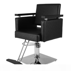 Hair Beauty Equipment Hydraulic Barber Chair Modern Black Styling Salon Haircut ship from US drop shippingt