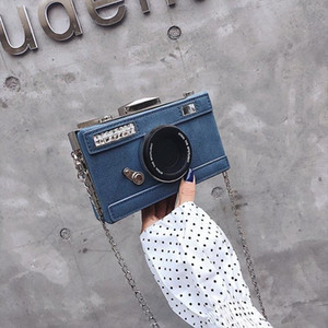 Personalized Design Fashion Camera Shape Clutch Nubuck Shoulder Bag Ladies Casual Mini Messenger Bag Purse