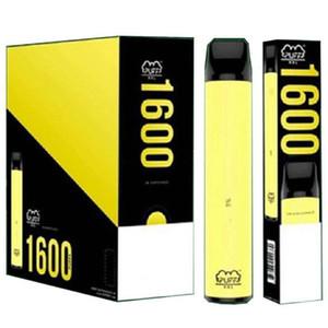 높은 포드 배터리 장치 850mAh 담배 일회용 Vape 1600 퍼프 플러스 펜 색상 XXL 사전 채워진 4ml 품질 퍼프 전자 PU SGFCS