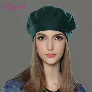 LILIYABAIHE new style Women Winter Hats wool Knitted Berets Cap the most popular decoration Thick Warm Hats for Women 201012