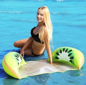 Cartoon Fruit Floats Inflatable Water Hammock Backrest Floating Row Mesh Mesh Net Inflatable Tubes Floats Swim Pool Mattress Chair