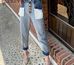 Genayooa Jeans Woman Cotton Ladies Vintage Loose Patchwork Streetwear Brand Women Boyfriends Jeans High Waist Pants Befree55
