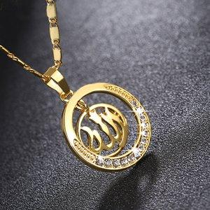 Ближний Восток Mus Lim женщин ожерелье Isla Mic Al Lah ожерелье оптовой продажи ювелирных изделий Hip Hop Bling цепи ювелирные изделия Мужчины Женщины ожерелья