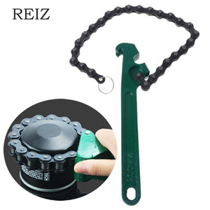 REIZ 8 12 15 inch Oil Chain Wrench Oil Fuel Filters Alloy Chain Spanner Hand Tool for Car Repair Remover Tools High Quality