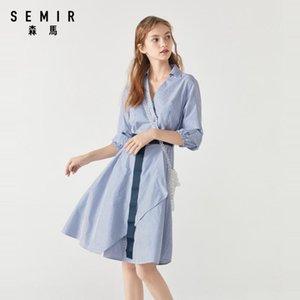 Semir Kadınlar Moda Elbise 2020 Yeni Hafif Yarım Kollu Trend Rahat Nefes Kadın için Rahat Elbiseler