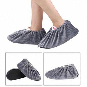 El más reciente Mrosaa 2 piezas de franela Overshoes reutilizables y lavables antideslizante Cubrezapatos elasticidad a prueba de polvo de arranque Overshoes MPJE #