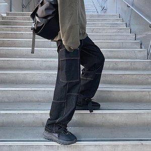 New Loose Straight Baggy Denim Pants men Wide Leg Jeans Mens 2020 Autumn Fashiong Hip Hop Streetwear men's jeans casual wear