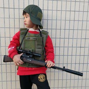 Открытый тактический детский жилет Удномерное армейское оборудование Детский мальчик девушка камуфляж малыш боевые CS охотничье одежда1