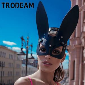 TRODEAM Cadılar Bayramı akın sevimli tavşan Uzun Kulaklar 1007 Maskeli Parti Cosplay Kostüm Maske esaret Kadınlar Man Seksi Tavşan Ears Maske