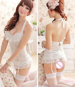Sexy lingerie corset vest+Thongs sexy underwear costumes black white sleepwear intimates slips women hot sex products sex99