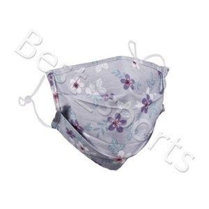 Wiederverwendbare Gesichtsmaske Blumendruck-Mund-Muffel windundurchlässige Waschbar Anti-Staub-Masken-Ski Warm Plaid Masken HWC3781