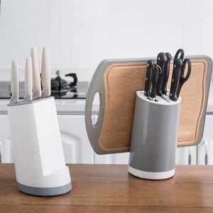 Multifunction Knife Storage Rack Kitchen Turret Shelf Drainer Box Knives Fork Organizer r Cutter Holder YYA49 EqGP#