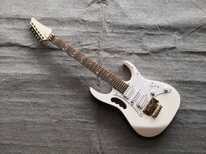 Custom 24 Frets 7V White Rare Electric Guitar Scalloped Fretboard Abalone Tree Of Line Inlay Gold Tremolo Tailpiece Bridge China Guitars