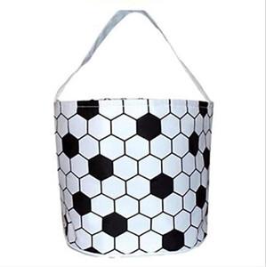 Easter Handbag Basketball Easter Basket Sport Canvas Totes Football Baseball Soccer Softball Buckets Storage Bag Candy Handbag YYS4328