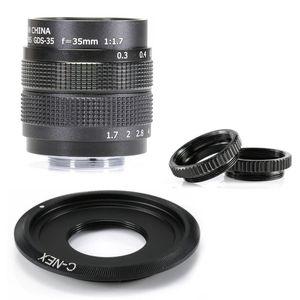 Профессиональный 35-мм F / 1,7 CCTV объектива C Mount Adapter + 2 Macro Ring для Sony камера