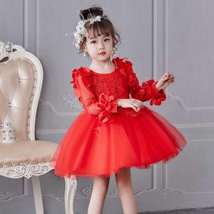 Children's Borded Girls 'Drs Alto Jumpsuit Curto Quali Long Sve Puffy Princs Skirt