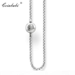 Catena collana argento sterling 925 con fibbia pieghevole per le donne gli uomini regalo della collana misura Thomas Stile Ts Karma Diy