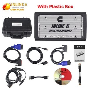 Car Diagnostic tool INLINE 6 Data Link Adapter Heavy Duty Scanner Full 8 cable Truck Diagnostic interface inline6 inline 5 @4