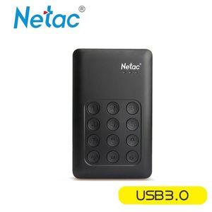 """Orijinal Netac K390 2TB 1TB Taşınabilir 2.5 """"USB 3.0 HDD Donanım Şifreleme Mobil Veri Güvenliği için Harici Sabit Disk Sürücüsü"""